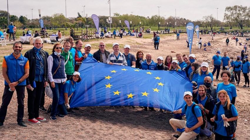 De la movida ecológica participaron embajadores de 19 países de Europa.
