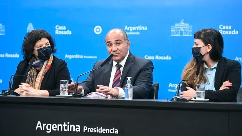 Manzur, Vizzotti y Micaela Sánchez Malcolm en la reunión de este jueves. Foto: Presidencia