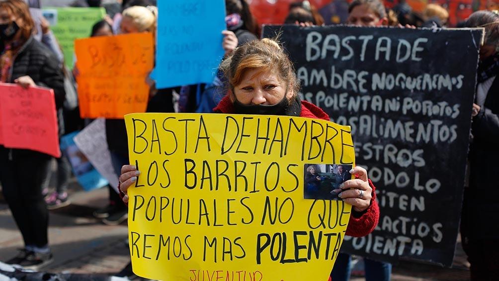 """""""El ollazo nacional se convocó luego de que se relevaran los datos oficiales de pobreza e indigencia del Indec"""". Foto: Victoria Gesualdi."""