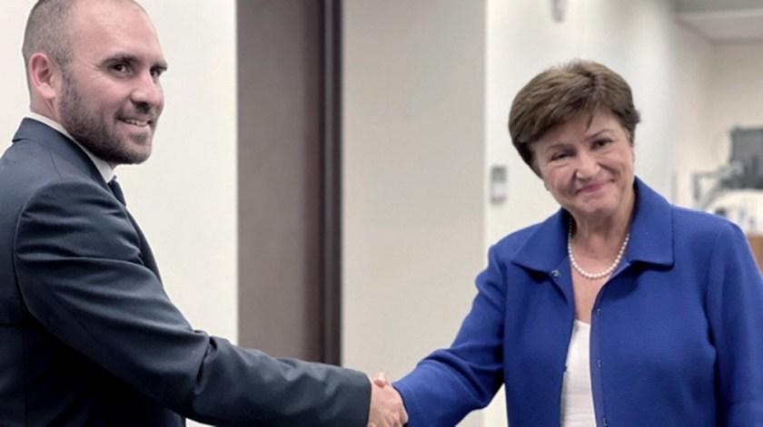 Guzmán y Georgieva se reunieron en Washington para tratar la refinanciación de la deuda Argentina con el FMI.
