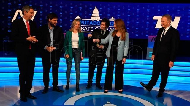 Santoro, Bregman, Milei y Vidal, entre los conductores de TV (Foto: Maximiliano Luna).