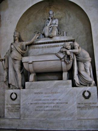 La tumba de Dante en la ciudad de Ravena.