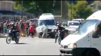 Captura de video del momento de las agresiones.