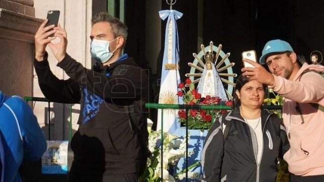 La peregrinación se puede seguir en las redes sociales y en la web www.peregrinacionlujan.org.ar.