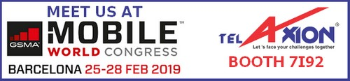 Meet TelAxion at Mobile World Congress 2019 in Barcelona