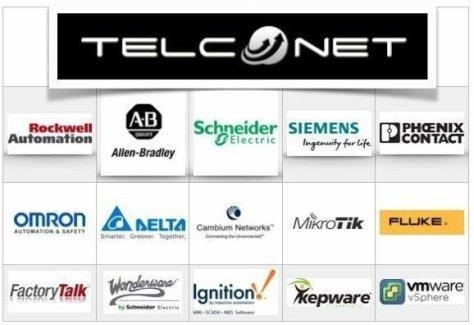 Telconet Chile Marcas Suministro Schneider, Siemenes, Allen Bradley, Omrom, Wonderware, Ignition, Kepware, Delta, Fluke
