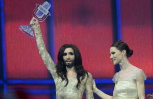 Eurovision song contest 2014, vince Conchita Wurst dell'Austria male l'Italia con Emma 1