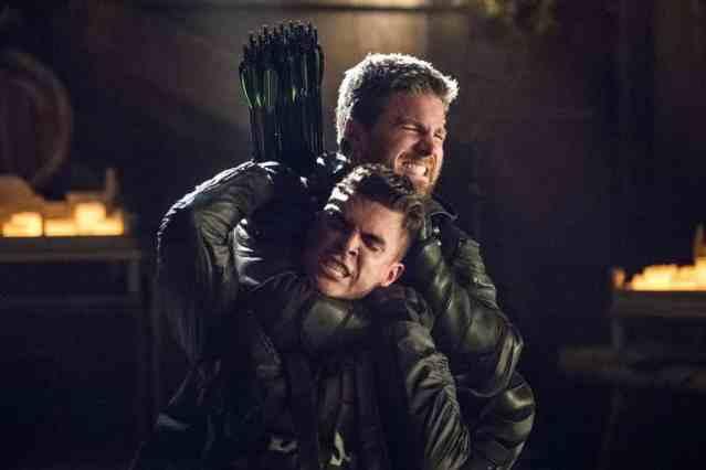 Stephen-Amell-and-Josh-Segarra-in-Arrow-Season-5-Finale