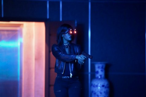 """Black Lightning -- """"The Book Of Consequences: Chapter One: Rise of the Green Light Babies"""" -- Image BLK201d_0140b.jpg -- Pictured: Skye P. Marshall as Ms. Fowdy -- Photo: Quantrell D. Colbert/The CW -- © 2018 The CW Network, LLC. All rights reserved"""