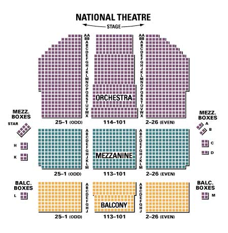 National Theatre Dc Seating Chart Brokeasshome Com