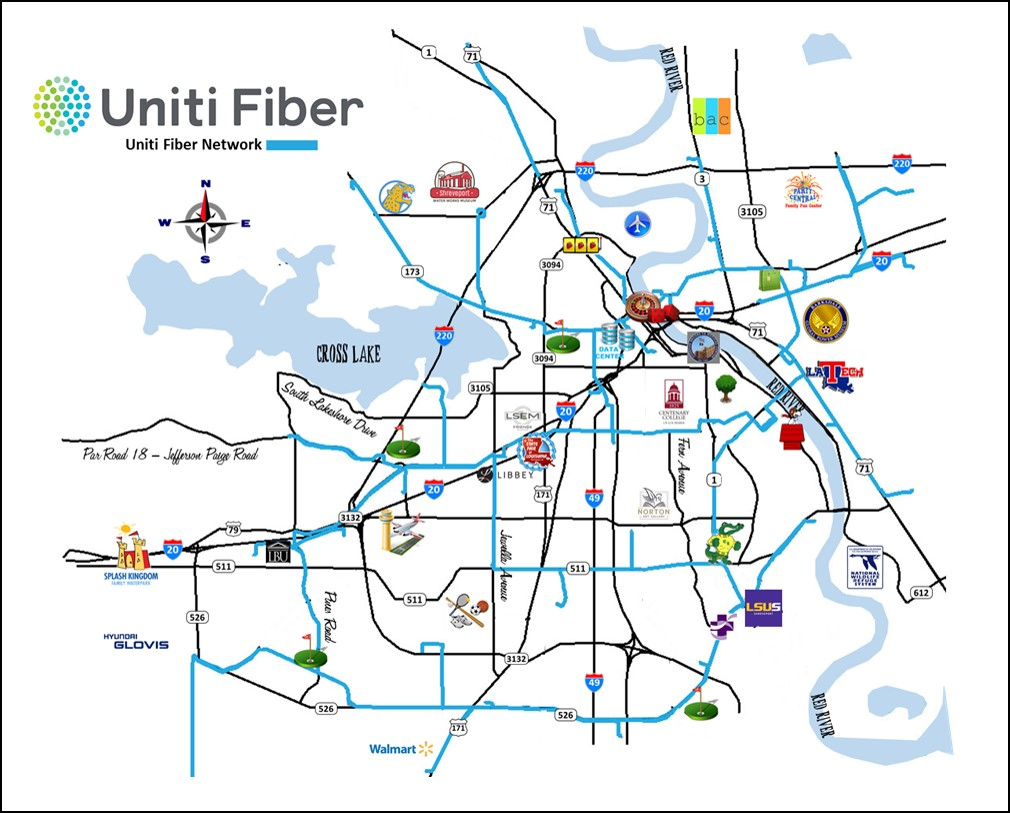 hight resolution of with a wireless provider in tow as anchor tenant for backhaul uniti fiber will be adding dark fiber in the northern louisiana city