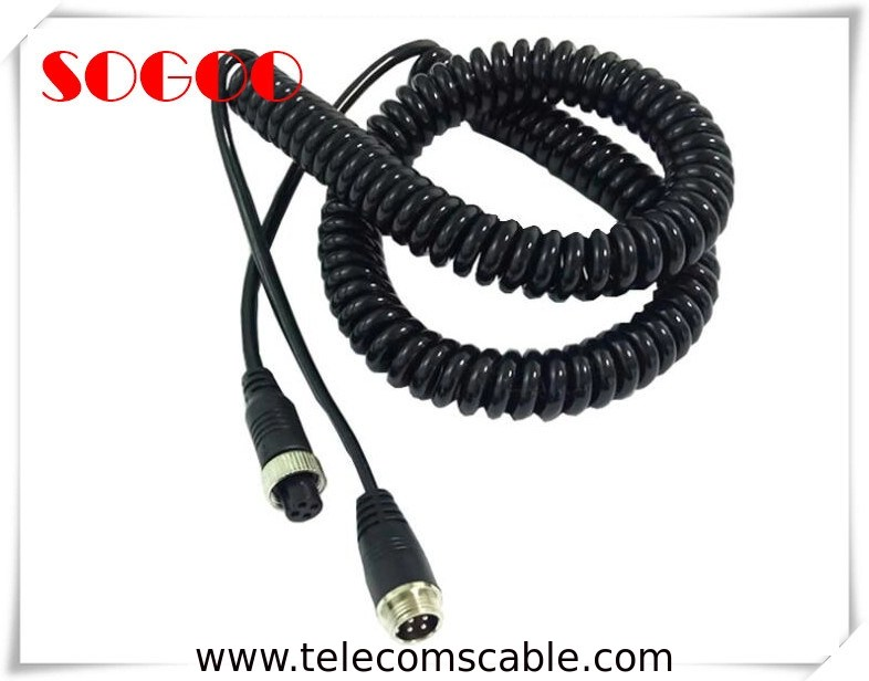 Retractable Custom Telecom Cable Assemblies Power Cord