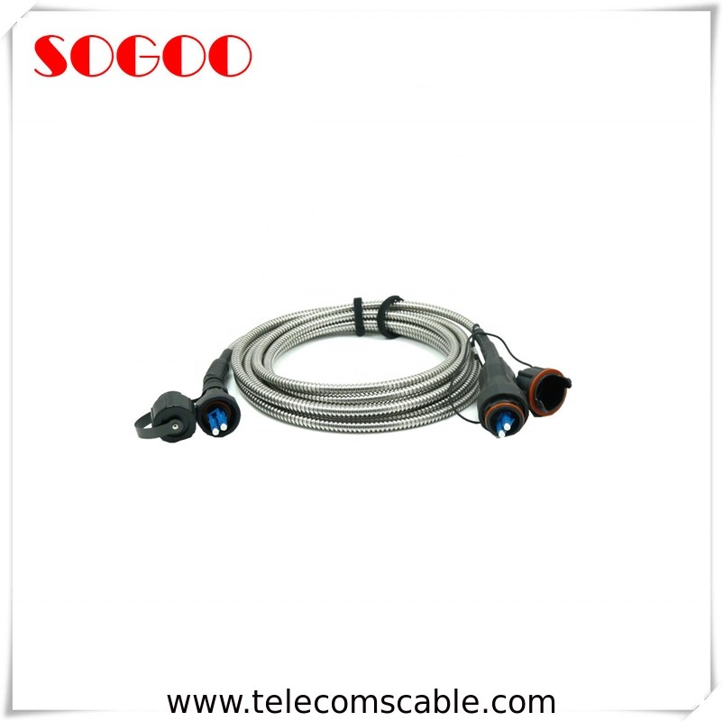 Outdoor Fiber Optic Armored Patch Cord Fullaxs To Odva