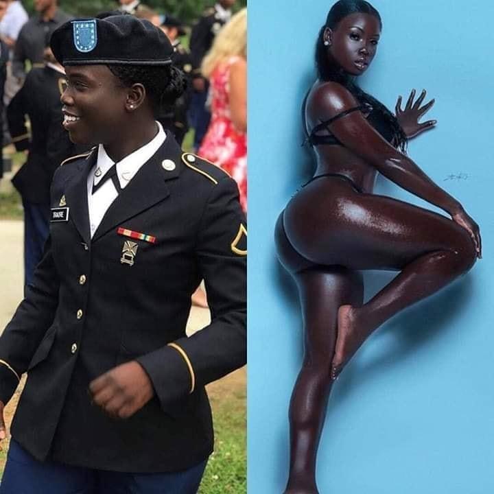 Photos - Cire_Traore , Américaine d'origine Guinéenne 🇬🇳🇺🇸. Elle est modèle et soldat dans l'armée américaine 🔥 %Post Title