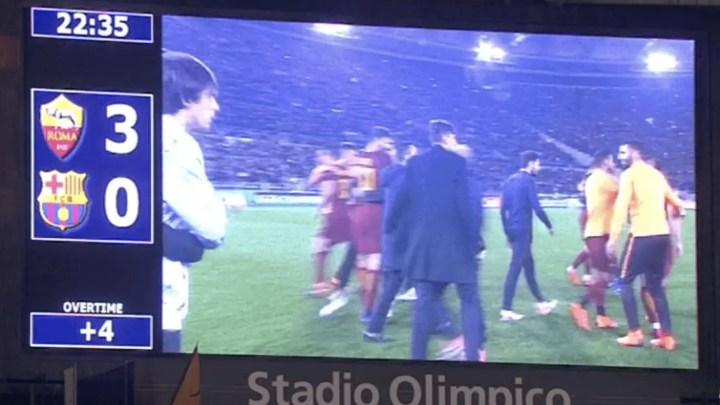 All'Olimpico succede di tutto, Roma in semifinale