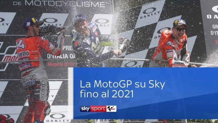 Sky, rinnovati i diritti tv della MotoGP fino al 2021