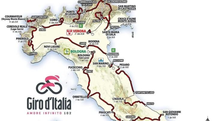 Giro d'Italia 2019, svelato il percorso: ultima tappa a Verona