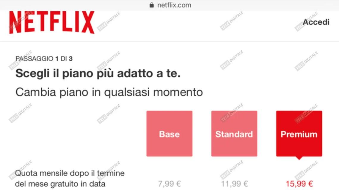 Netflix, aumenti fino a +6 euro/mese in test