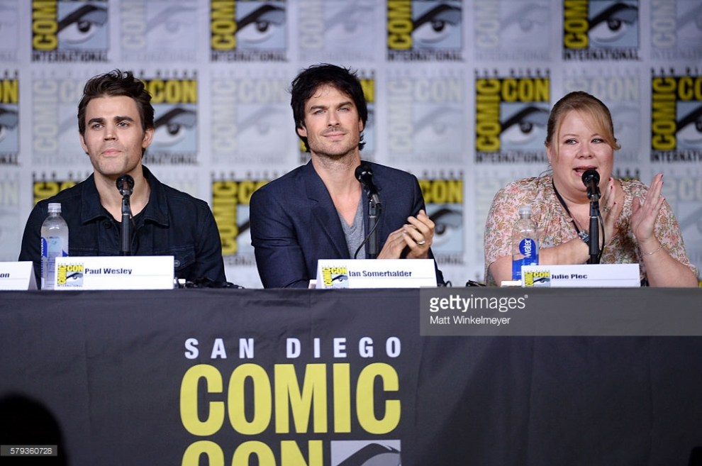 "attends the ""The Vampire Diaries"" panel during Comic-Con International 2016 at San Diego Convention Center on July 23, 2016 in San Diego, California."