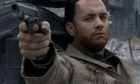 salvate il soldato ryan, tom hanks in una scena del film