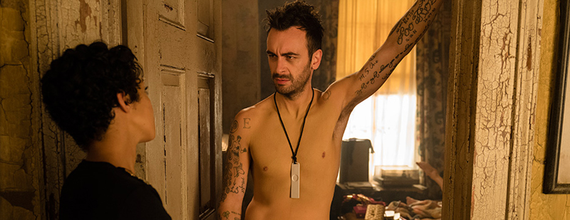Joseph Gilgun and Ruth Negga in Preacher