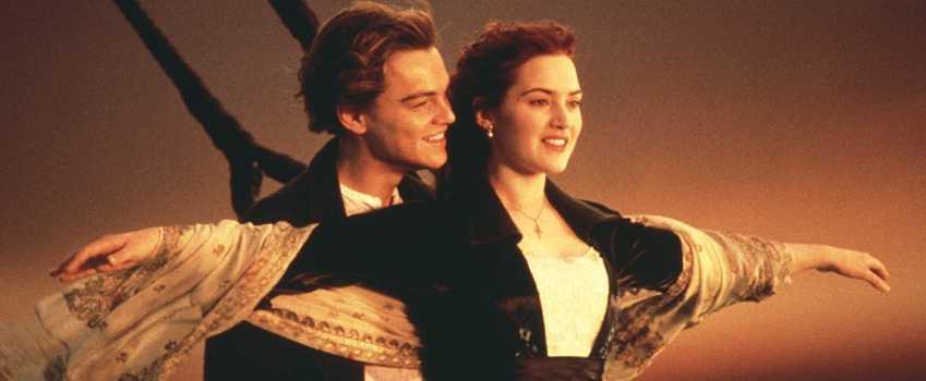 Leonardo di Caprio e Kate winslet in Titanic