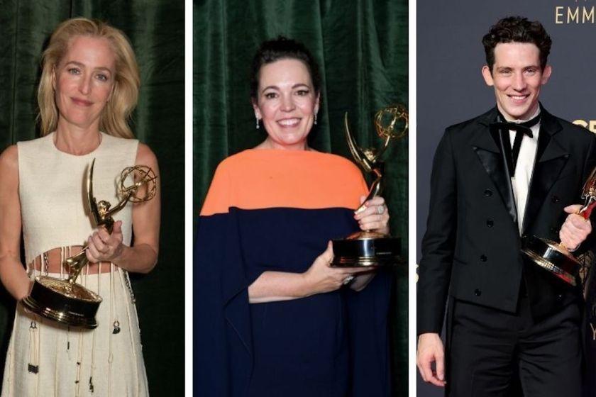Emmy Awards 2021: i vincitori - Gillian Anderson, Olivia Colman e Josh O'Connor di The Crown