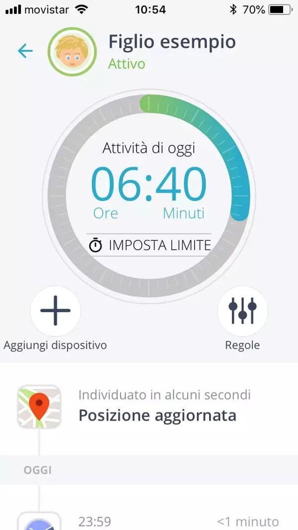 Qustodio monitora il tempo online