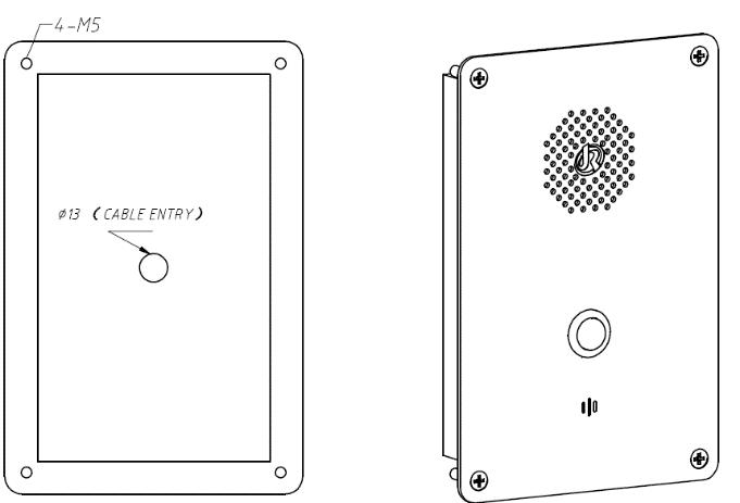 Drawing JR301-SC-IW Telefono de Emergencia