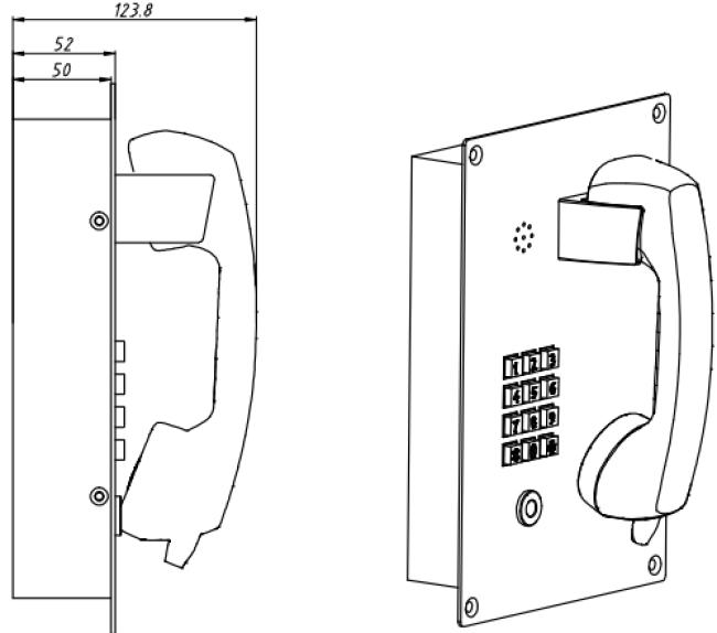 Drawing JR208-FK Teléfono Antivandalico Vozell