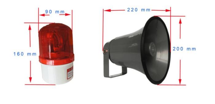 Bocina y Luz LED para telefono Industrial JR101-FK-HB