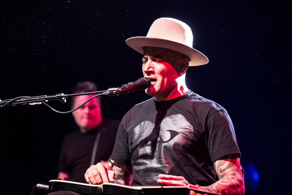 "MF7AHA American musicians BEN HARPER and CHARLIE MUSSELWHITE perform live on stage at Fabrique Milano in Milan for their tour ""No Mercy in this Land"