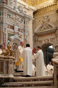 Un momento della solenne liturgia
