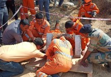 Two-year-old boy falls into borewell