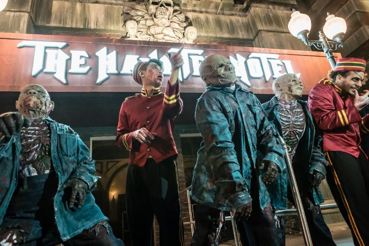 There is an age restriction at the park's Haunted Hotel