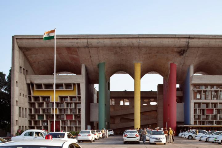 One of Le Corbusier's creations in the Indian city