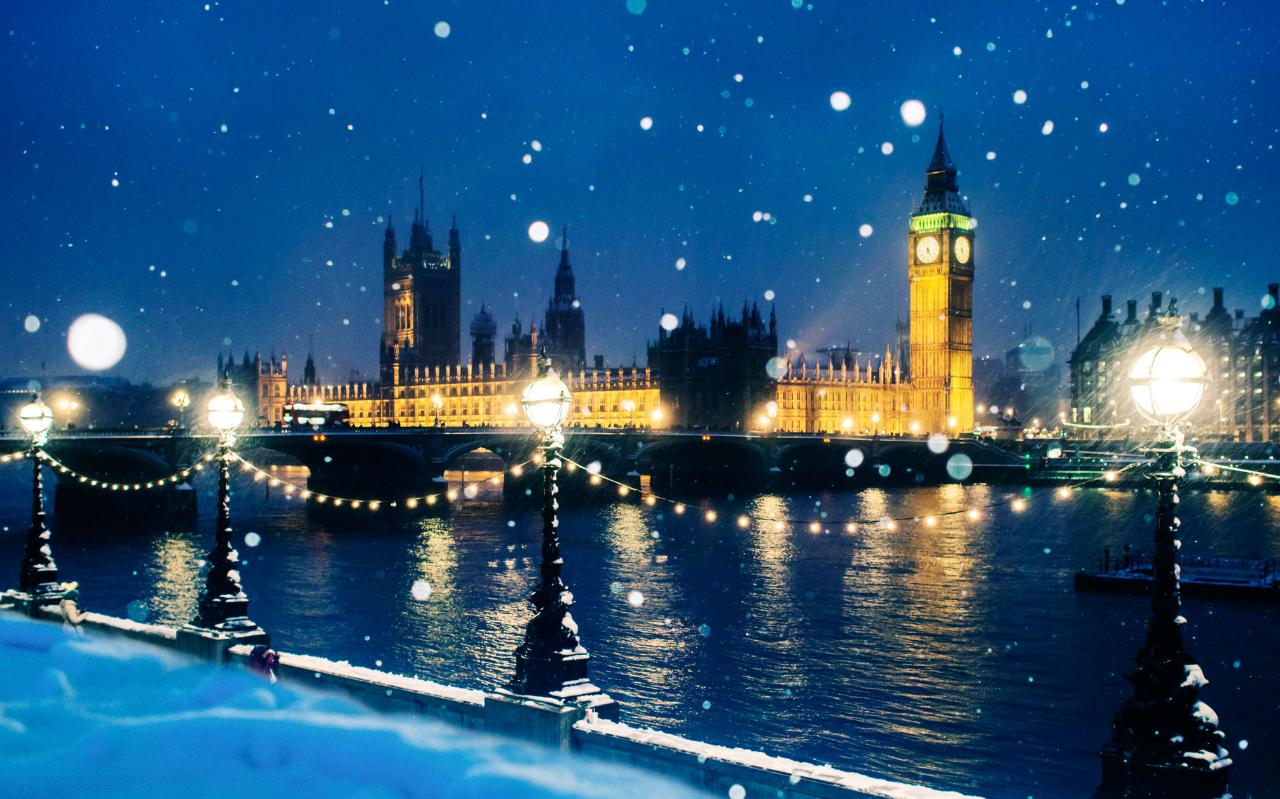 Snow Falling Background Wallpaper Revealed The Uk Cities Most Likely To Have A White Christmas