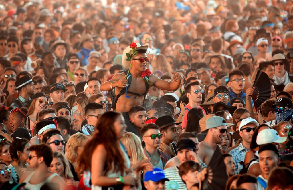The crowd at Coachella