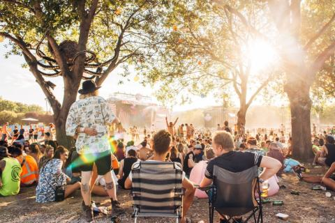 Revellers at Sziget