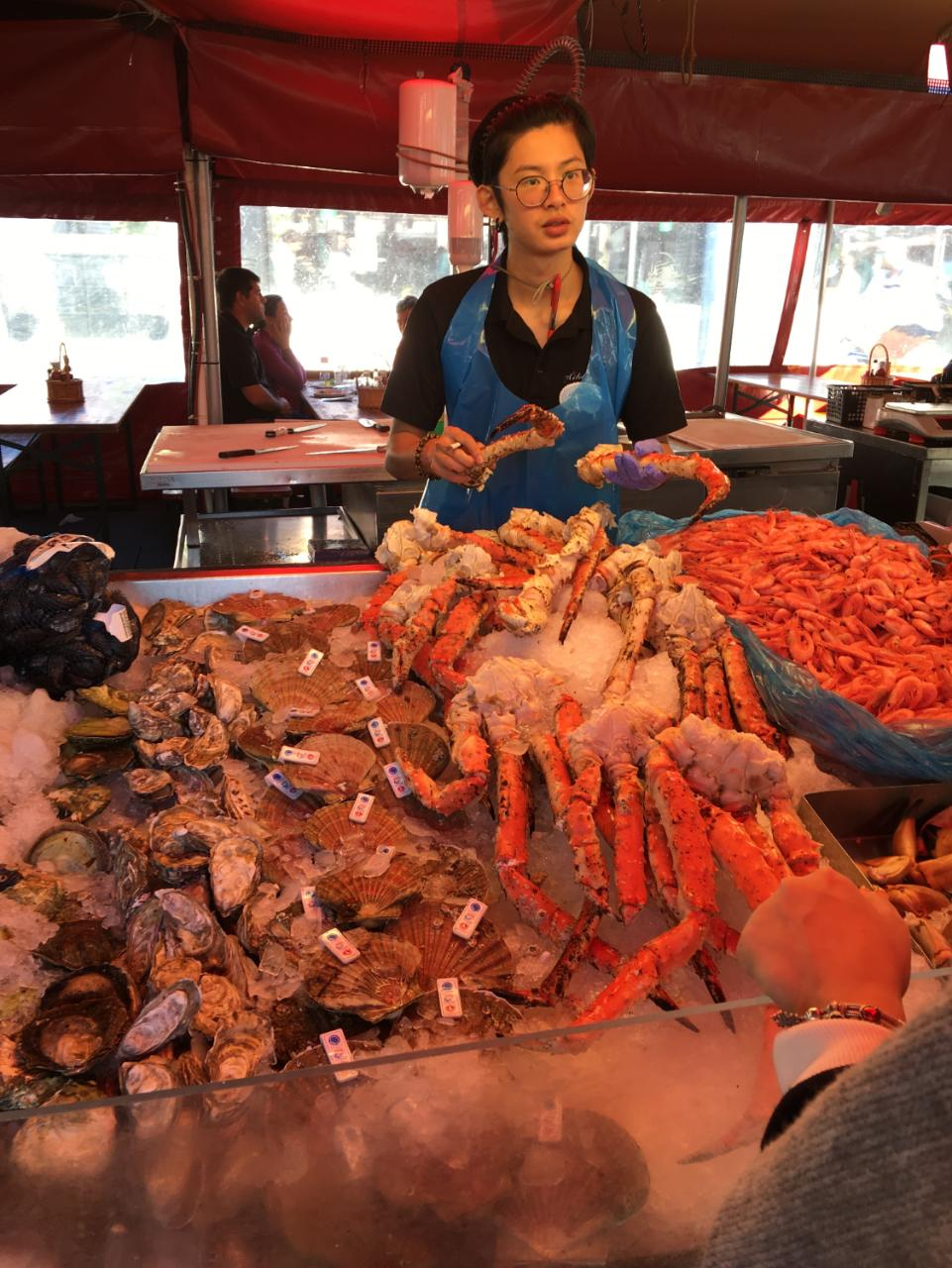 Displays of shellfish, smoked fish and even whale meat are impressive spectacles at Bergen's fish market