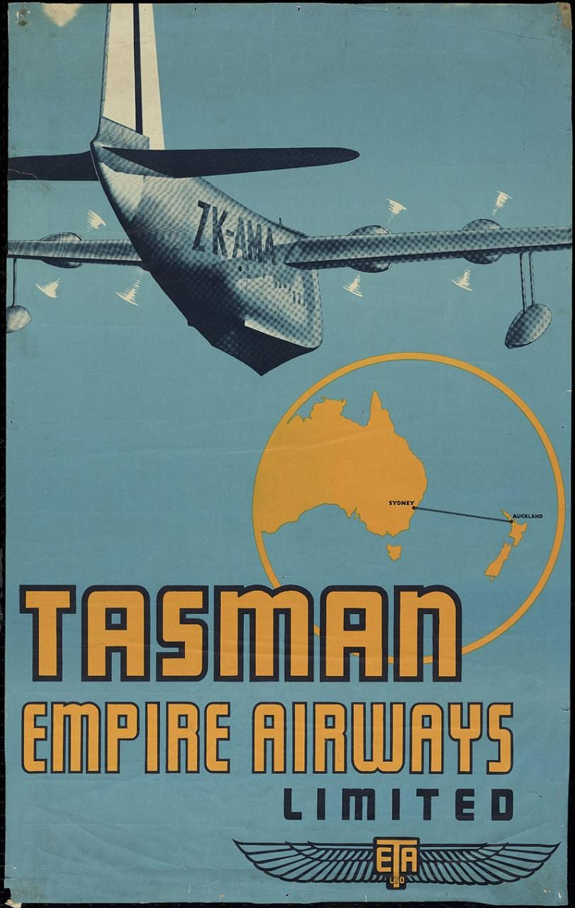 Air New Zealand posters showcase its 75 years in the sky