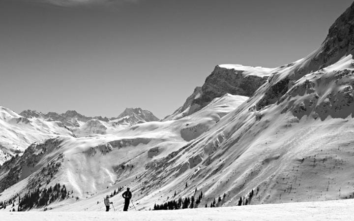 The mountains near Lech