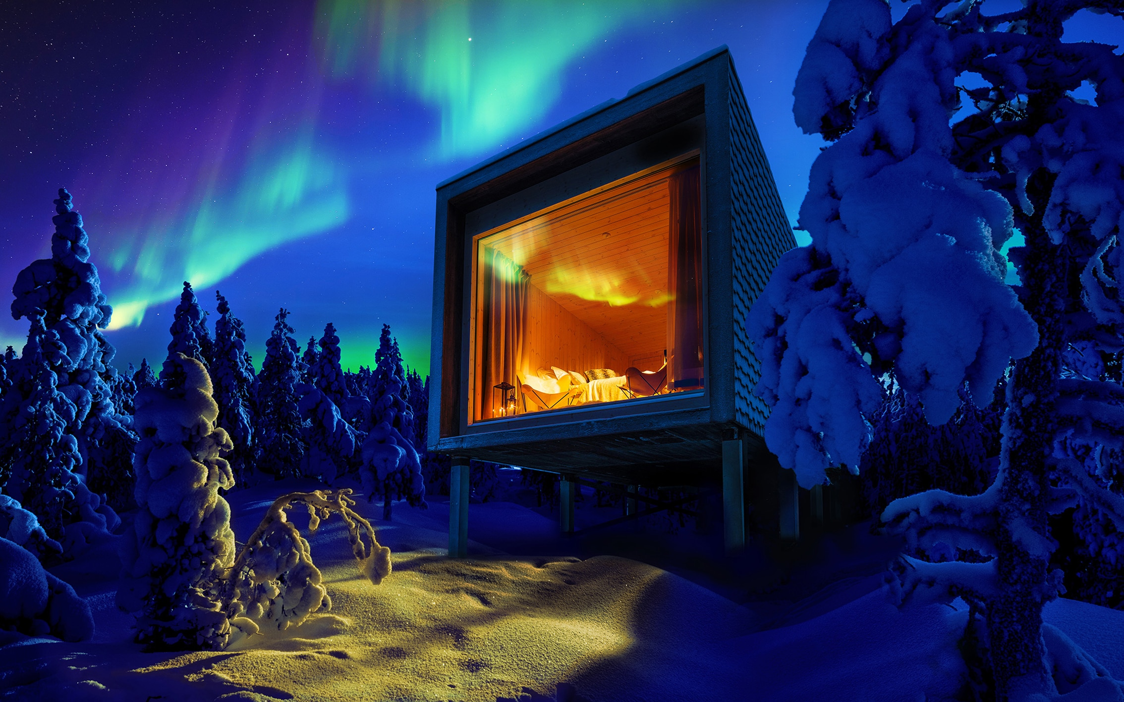 Image result for arctic treehouse hotel finland