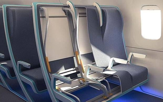 Plane seats that expand for bigger passengers  Telegraph