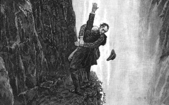 Image result for reichenbach falls sherlock holmes