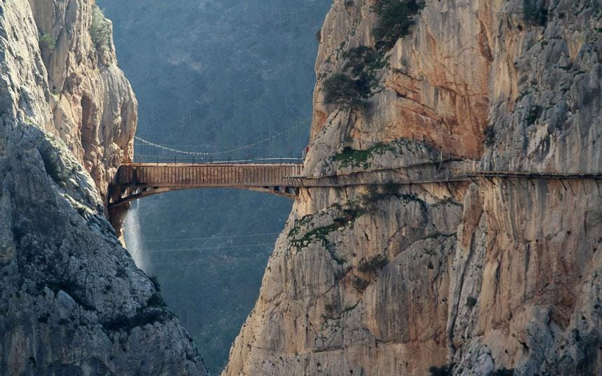 Caminito del Rey worlds scariest footpath now requires helmets  Telegraph