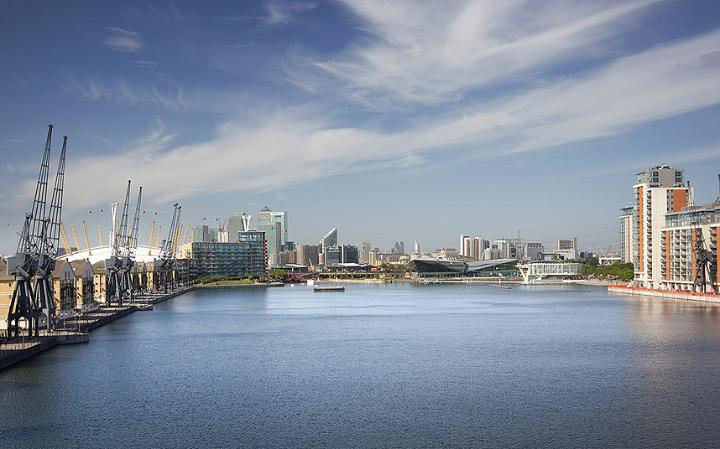 London's Royal Docks opens as urban swimming pool