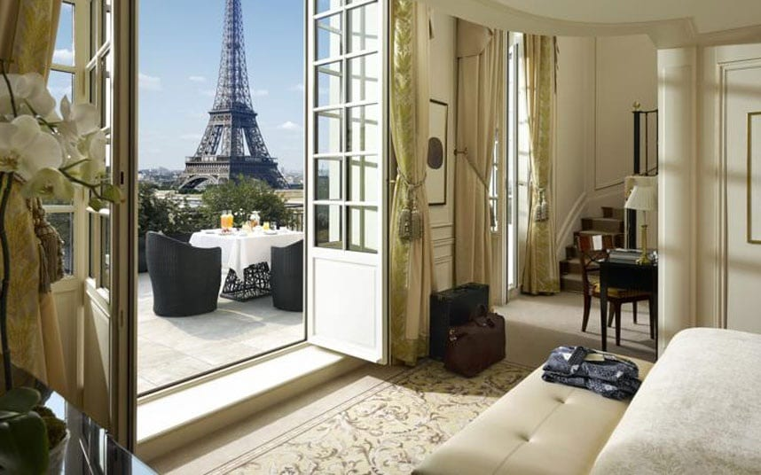 The Best Paris Hotels Near The Eiffel Tower Telegraph Travel