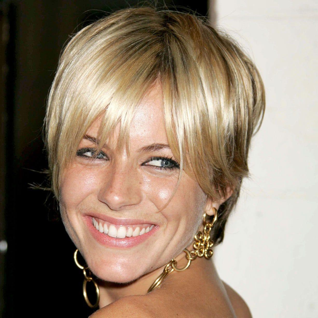 Sienna Miller Short Crop Hairstyle Pixie Crop Sharon