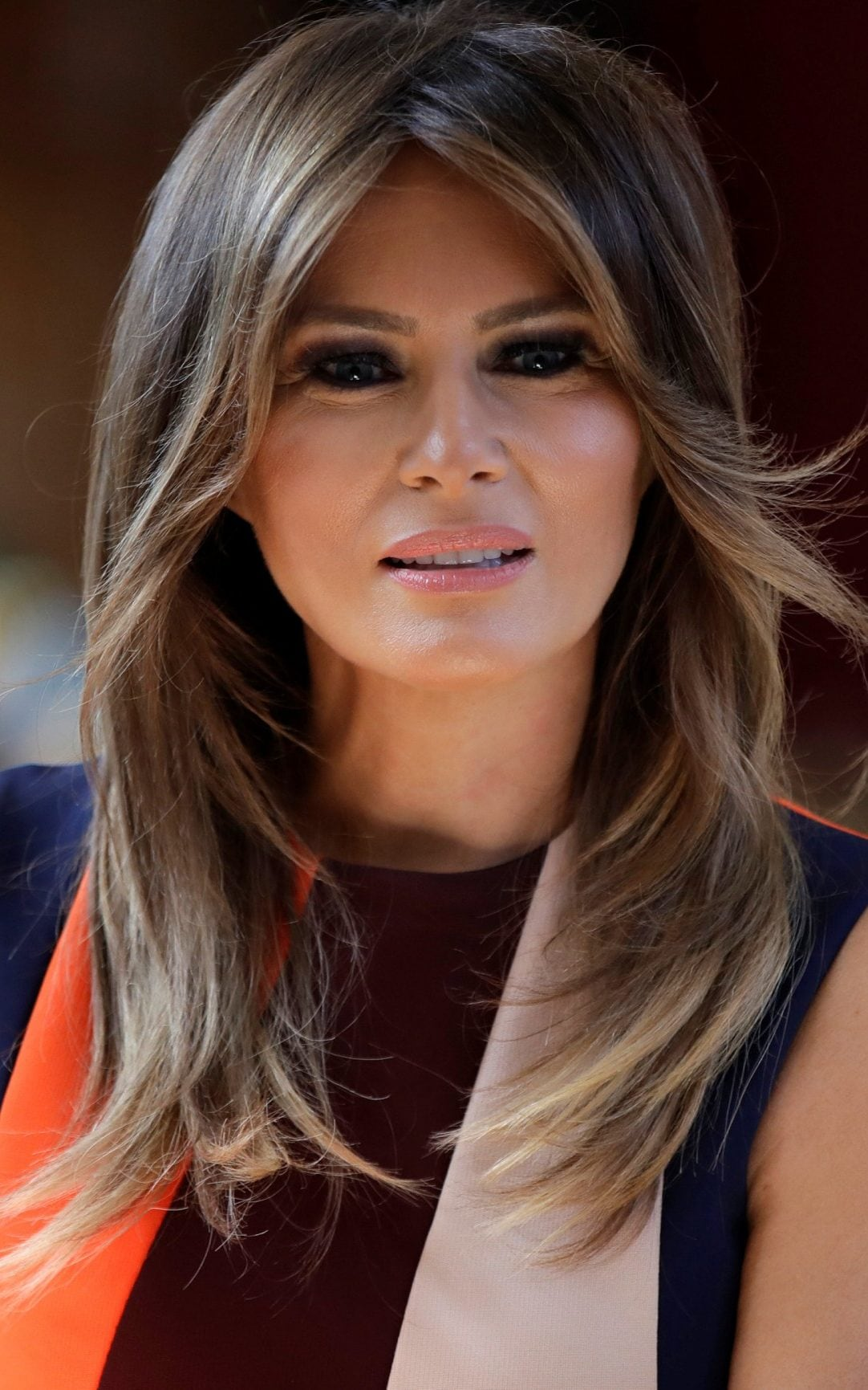 Melania Trump Opts For A Diplomatic Beauty Style During